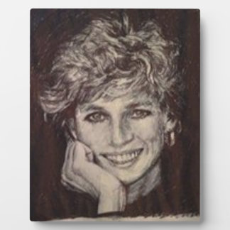 PRINCESS DIANA INK PEN PORTRAIT PLAQUE