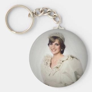 Princess Diana wedding portrait Key Ring