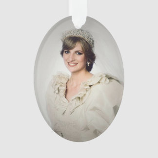 Princess Diana wedding portrait Ornament