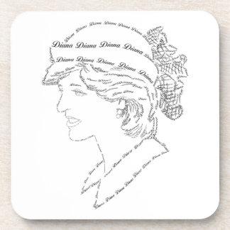 Princess Diana word art Beverage Coasters