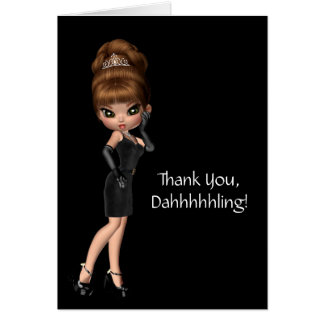 Princess Diva Thank You Note Card