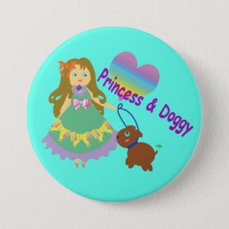 Princess & Doggy 7.5 Cm Round Badge