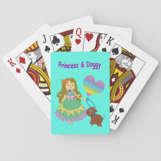 Princess & Doggy Playing Cards