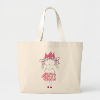 Princess Doll Large Tote Bag
