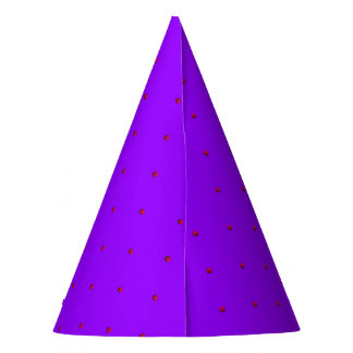 Princess Dots-Pink on Purple-PAPER PARTY HATS