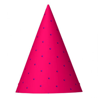 Princess Dots-Purple on Pink-PAPER PARTY HATS