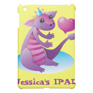 Princess Dragon with love heart Case For The iPad Mini