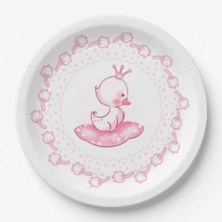Princess Duck Paper Plate