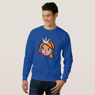 princess emoji mens sweatshirt