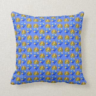 """Princess Emoji Throw Pillow 16"""" x 16"""""""