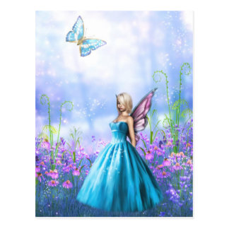 Princess Fae in Blue Postcard