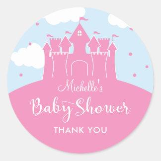 Princess Fairytale Castle Baby Shower Sticker