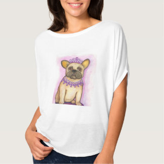 Princess French Bulldog flowy top