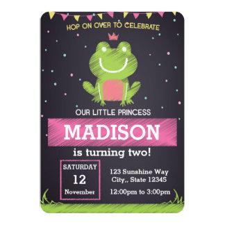 Princess Frog Birthday Invitation