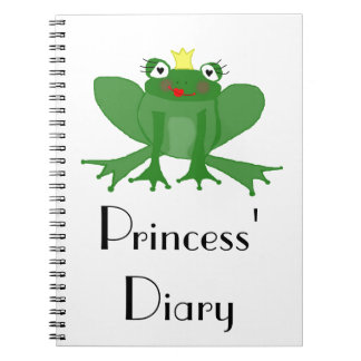 Princess Frog Diary - Notepad Notebook