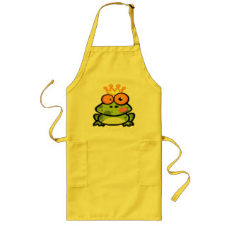 Princess Frog with a Golden Crown Aprons