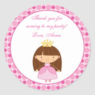 Princess Gift Favor Label Sticker