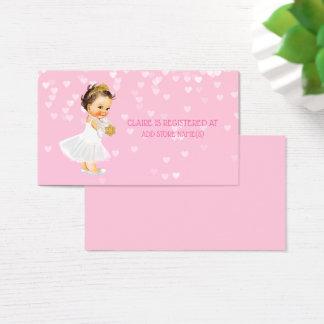 Princess Girl Baby Shower Registry Insert Hearts
