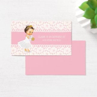 Princess Girl Baby Shower Registry Insert Pink