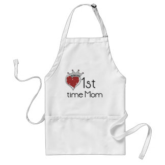 Princess Heart 1st Time Mom Tshirts and Gifts Adult Apron