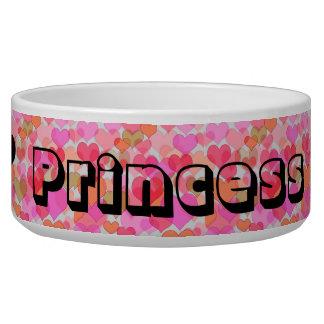 Princess Hearts Fur Baby Food Bowl
