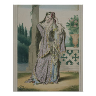 Princess Helen, engraved by the Thierry Brothers, Poster