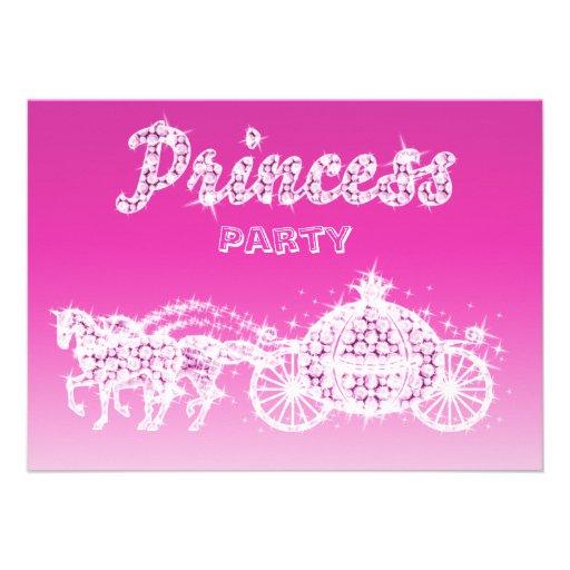 Princess Horses & Carriage Birthday Party Custom Invitations