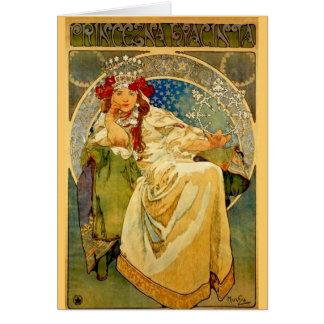 Princess Hyacinth by Mucha Card