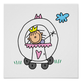 Princess in Carriage Poster