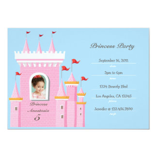 Princess in Castle Birthday Party Invitation