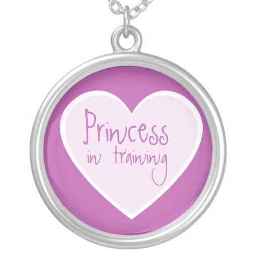 Princess in Training Custom Necklace