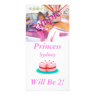 Princess is Customizable Today Personalised Photo Card