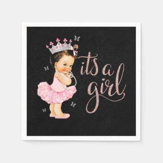 Princess It's a Girl Baby Shower Napkin Paper Napkins