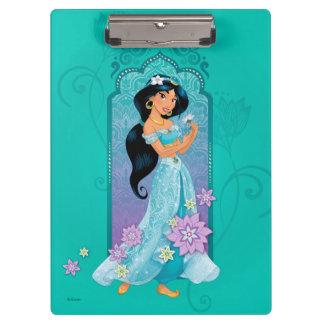 Princess Jasmine,  Rajah & Abu Floral Clipboard