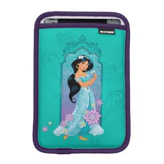 Princess Jasmine,  Rajah & Abu Floral iPad Mini Sleeve