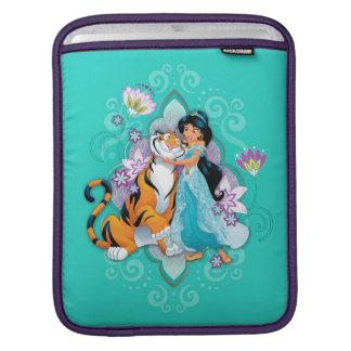 Princess Jasmine & Rajah Floral iPad Sleeve