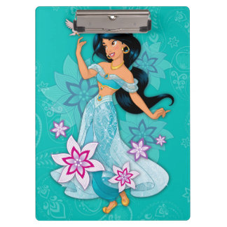 Princess Jasmine with Bird Floral Clipboard