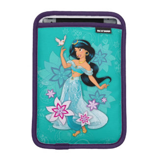 Princess Jasmine with Bird Floral iPad Mini Sleeve