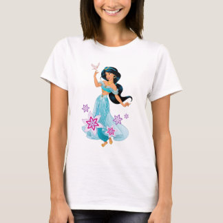 Princess Jasmine with Bird Floral T-Shirt