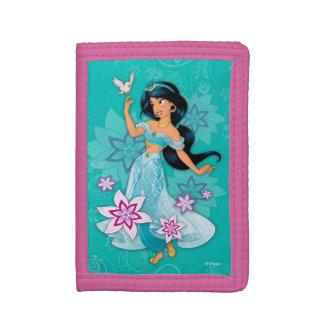Princess Jasmine with Bird Floral Tri-fold Wallet