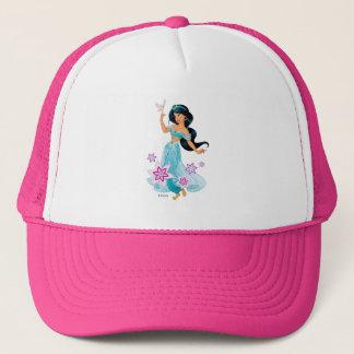Princess Jasmine with Bird Floral Trucker Hat