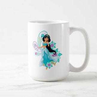 Princess Jasmine with Feathers & Flowers Coffee Mug