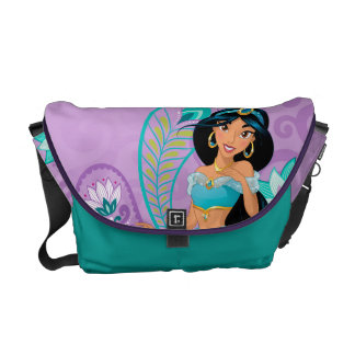 Princess Jasmine with Feathers & Flowers Courier Bags