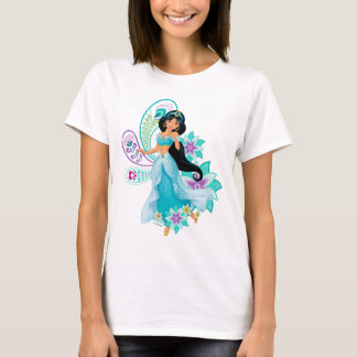 Princess Jasmine with Feathers & Flowers T-Shirt