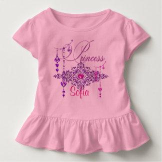 Princess Jewels Custom Pink Toddler Ruffle Tee
