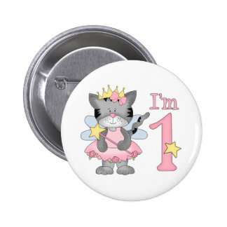 Princess Kitty 1st Birthday 6 Cm Round Badge