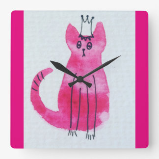 Princess Kitty Wall Clock