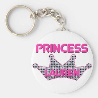 Princess Lauren Basic Round Button Key Ring