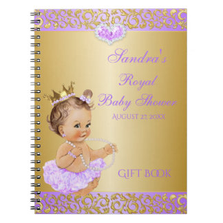Princess Lilac Lavender Gold Gift Guest Note Book