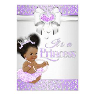 Princess  Lilac & Silver Diamond African American Card